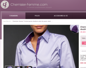 site chemise femme