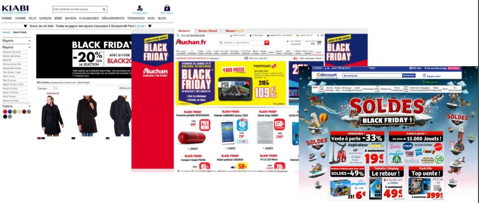 Les sites e-commerce participent au Black Friday
