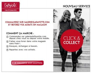 Le click and collect fait partie du web to store