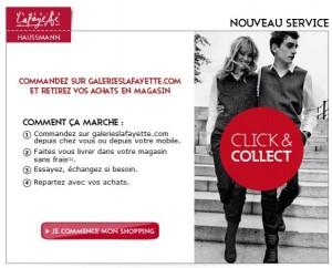 Le click and collect fait partie du web to store